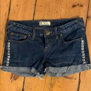 Free People Studded Jean shorts - size 28